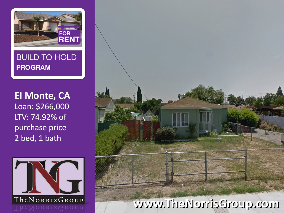 El Monte Hard Money Loan closed by the Norris Group