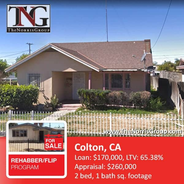 Colton Hard Money Loan