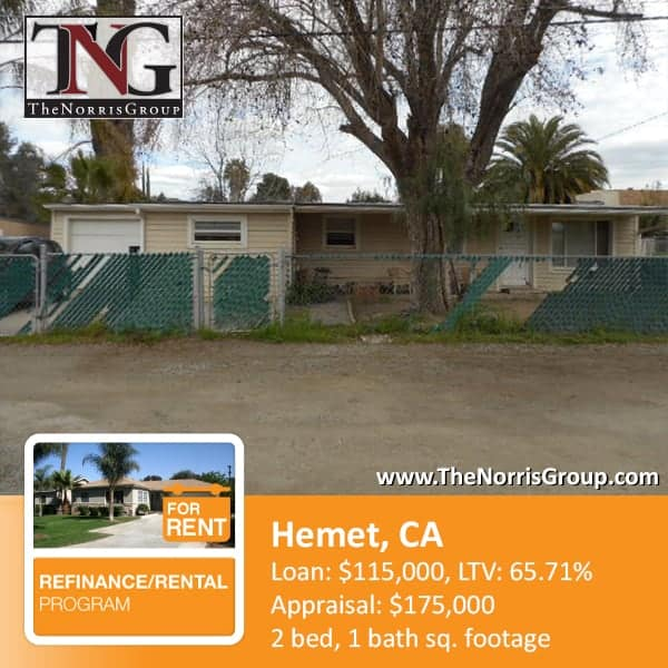 Hemet Hard Money Loan